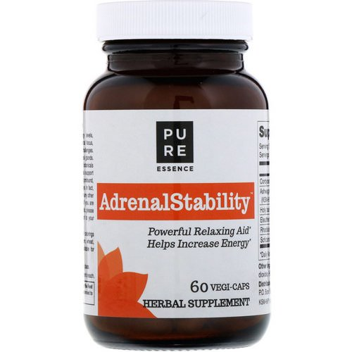 Pure Essence, AdrenalStability, 60 Vegi-Caps Review