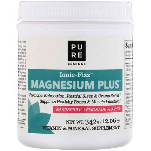Pure Essence, Ionic-Fizz, Magnesium Plus, Raspberry Lemonade Flavor, 12.06 oz (342 g) Review