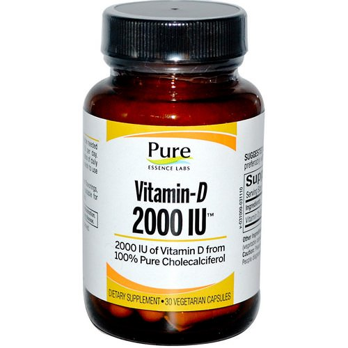 Pure Essence, Vitamin-D, 2000 IU, 30 Veggie Caps Review