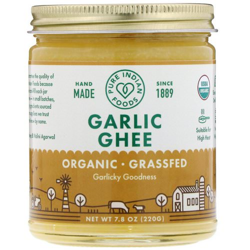 Pure Indian Foods, Organic Garlic Ghee, 7.8 oz (220 g) Review