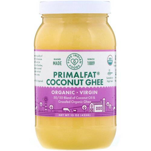 Pure Indian Foods, Organic & Virgin PrimalFat Coconut Ghee, 15 oz (425 g) Review