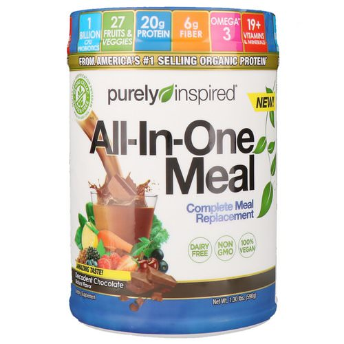 Purely Inspired, All-In-One Meal, Complete Meal Replacement, Decadent Chocolate, 1.30 lbs (590 g) Review