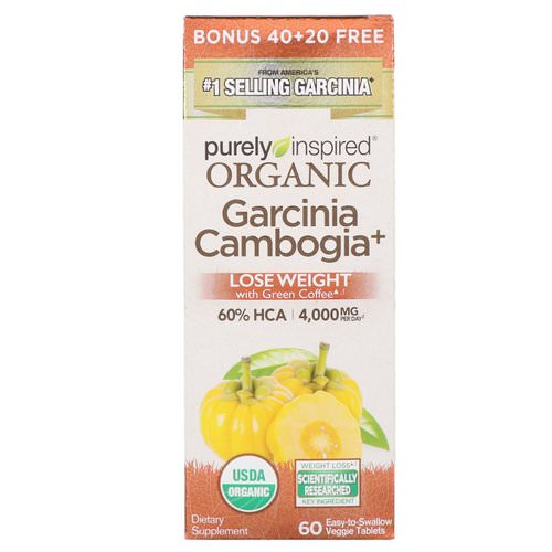 Purely Inspired, Organic Garcinia Cambogia +, 60 Easy-to-Swallow Veggie Tablets Review