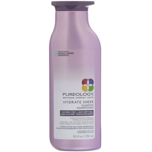 Pureology, Serious Colour Care, Hydrate Sheer Shampoo, 8.5 fl oz (250 ml) Review