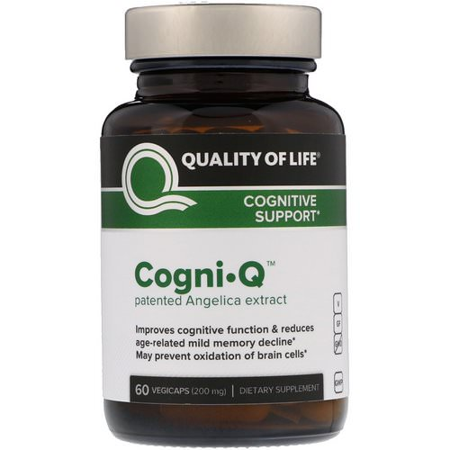 Quality of Life Labs, Cogni·Q, Cognitive Support, 200 mg, 60 VegiCaps Review