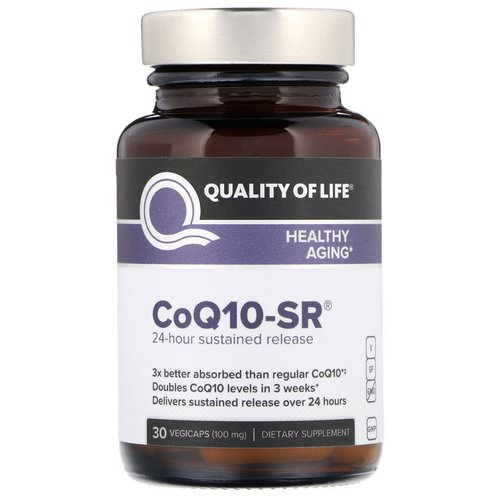 Quality of Life Labs, CoQ10-SR, 100 mg, 30 Vegicaps Review
