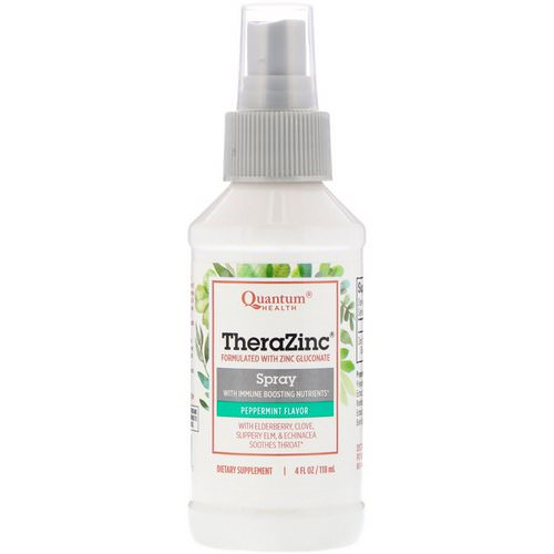 Quantum Health, TheraZinc Spray with Immune Boosting Nutrients, Peppermint Flavor, 4 fl oz (118 ml) Review