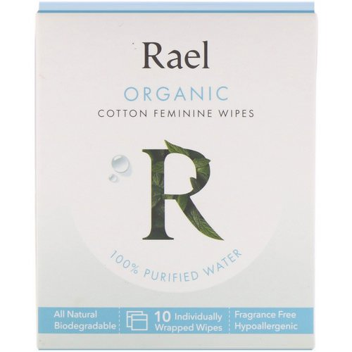 Rael, Organic Cotton Feminine Wipes, 10 Wipes Review