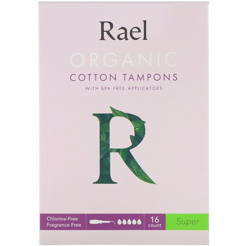 Rael, Organic Cotton Tampons With BPA-Free Applicators, Super, 16 Count Review
