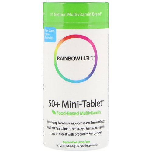 Rainbow Light, 50+ Mini Tablet, Food-Based Multivitamin, 90 Mini-Tablets Review