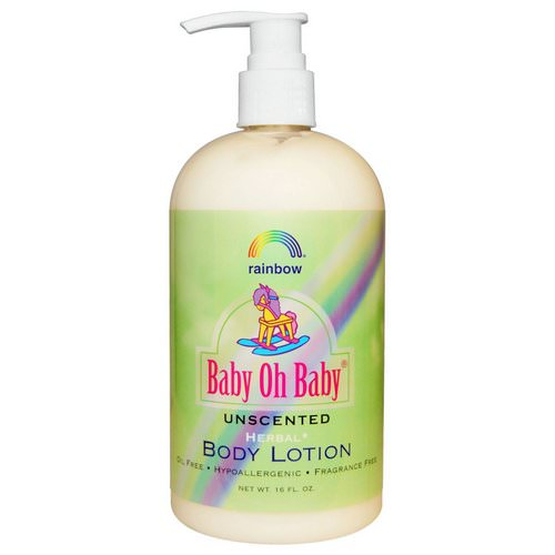 Rainbow Research, Baby Oh Baby, Body Lotion, Unscented, 16 fl oz Review