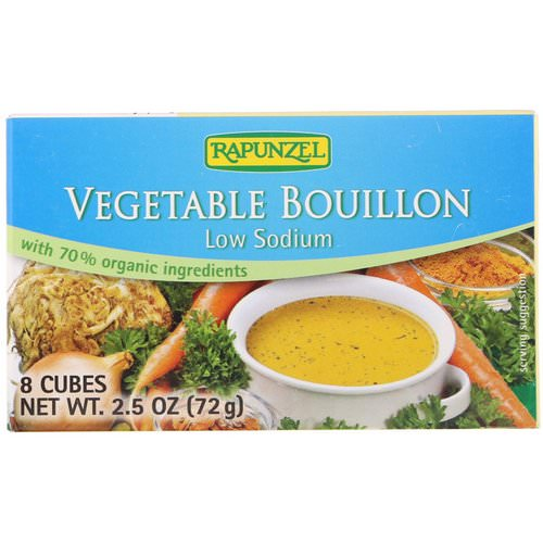 Rapunzel, Vegetable Bouillon, Low Sodium, 8 Cubes 2.5 oz (72 g) Review