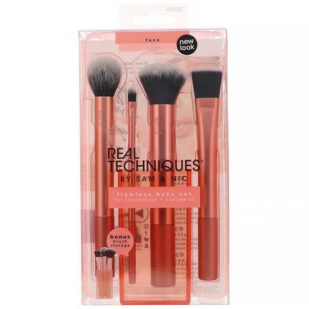 禮品套裝, 化妝刷: Real Techniques by Samantha Chapman, Flawless Base Set, 5 Piece Set