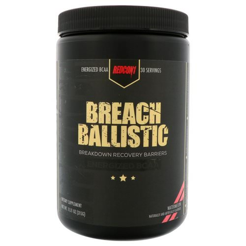 Redcon1, Breach Ballistic, Energized BCAA, Watermelon, 11.11 oz (315 g) Review