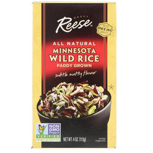 Reese, All Natural, Minnesota Wild Rice, Subtle Nutty Flavor, 4 oz (113 g) Review