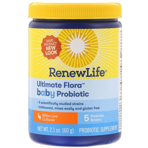 Renew Life, Ultimate Flora, Baby Probiotic, 4 Billion Live Cultures, 2.1 oz (60 g) Review