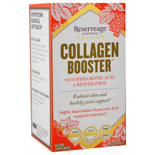 ReserveAge Nutrition, Collagen Booster with Hyaluronic Acid & Resveratrol, 60 Capsules Review