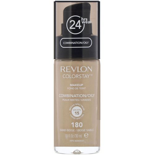 Revlon, Colorstay, Makeup, Combination/Oily, 180 Sand Beige, 1 fl oz (30 ml) Review