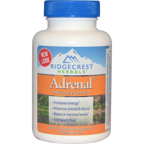 RidgeCrest Herbals, Adrenal, Fatigue Fighter, 60 Vegan Caps Review