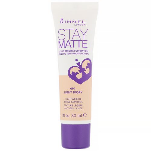 Rimmel London, Stay Matte Liquid Mousse Foundation, 091 Light Ivory, 1 fl oz (30 ml) Review