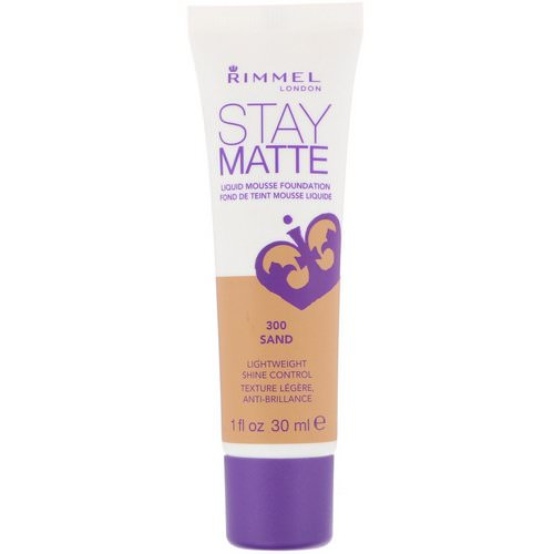 Rimmel London, Stay Matte Liquid Mousse Foundation, 300 Sand, 1 fl oz (30 ml) Review