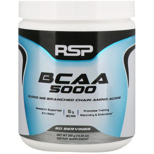 RSP Nutrition, BCAA 5000, Unflavored, 5,000 mg, 10.58 oz (300 g) Review