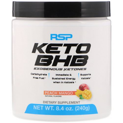RSP Nutrition, Keto BHB, Peach Mango, 8.4 oz (240 g) Review