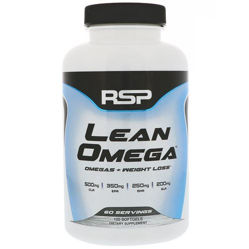 RSP Nutrition, LeanOmega, Omegas + Weight Loss, 120 Softgels Review