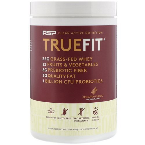 RSP Nutrition, TrueFit, Grass-Fed Whey Protein Shake, Cinnamon Churro, 2 lbs (940 g) Review