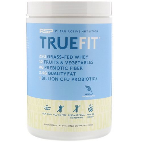 RSP Nutrition, TrueFit, Grass-Fed Whey Protein, Vanilla, 2 lbs (940 g) Review