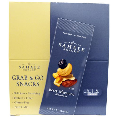 Sahale Snacks, Berry Macaroon Almond Mix, 9 Packs, 1.5 oz (42.5 g) Each Review