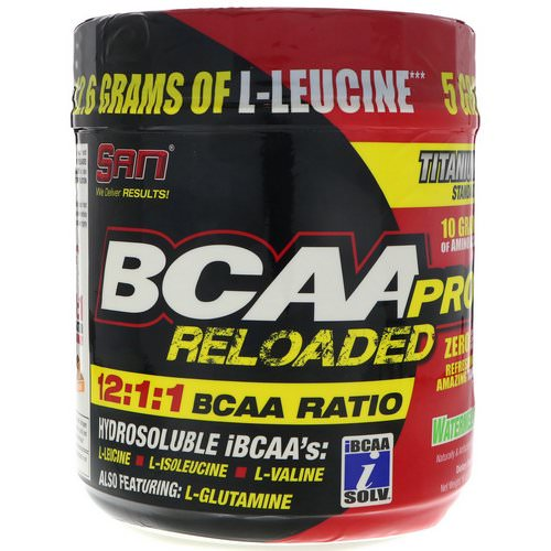 SAN Nutrition, BCAA Pro Reloaded, Watermelon, 16 oz (456 g) Review