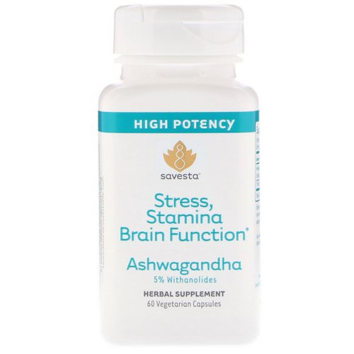 Savesta, Ashwagandha, 60 Vegetarian Capsules Review