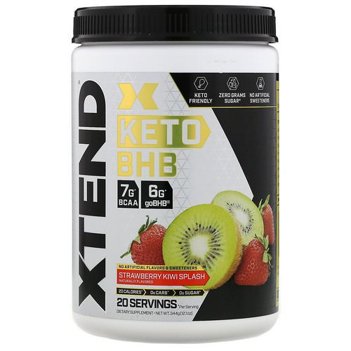 Scivation, Xtend, Keto BHB, Strawberry Kiwi Splash, 12.1 oz (344 g) Review