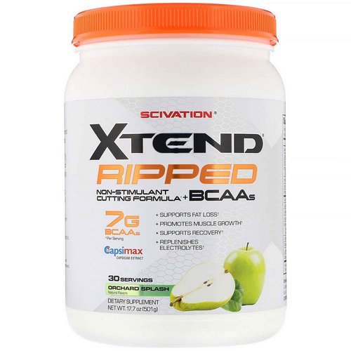 Scivation, Xtend, Ripped BCAAs, Orchard Splash, 17.7 oz (501 g) Review