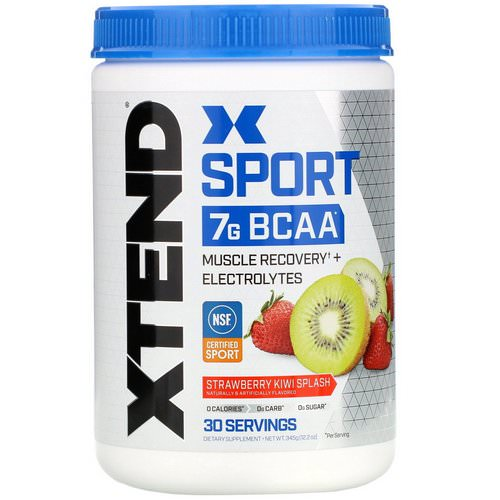 Scivation, Xtend, Sport 7g BCAA, Strawberry Kiwi Splash, 12.2 oz (345 g) Review