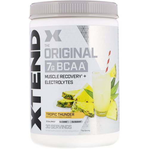 Scivation, Xtend, The Original 7G BCAA, Tropic Thunder, 14.8 oz (420 g) Review