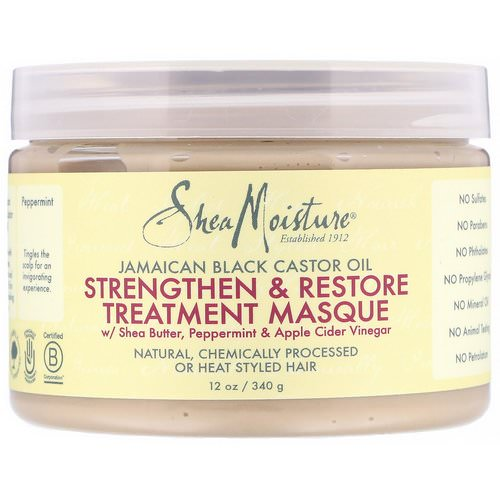 SheaMoisture, Jamaican Black Castor Oil, Strengthen & Restore Treatment Masque, 12 oz (340 g) Review