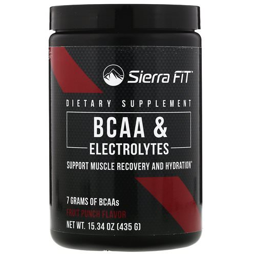 Sierra Fit, BCAA & Electrolytes, 7G BCAAs, Fruit Punch, 15.34 oz (435 g) Review