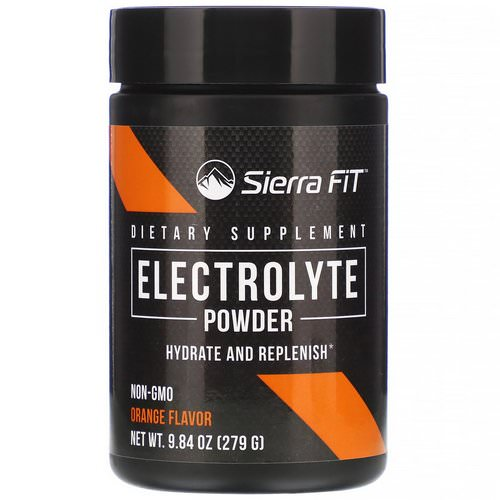 Sierra Fit, Electrolyte Powder, 0 Calories, Orange, 9.84 oz (279 g) Review