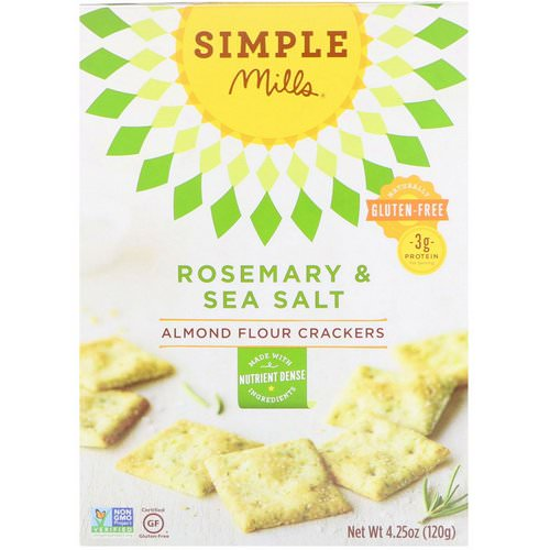 Simple Mills, Naturally Gluten-Free, Almond Flour Crackers, Rosemary & Sea Salt, 4.25 oz (120 g) Review