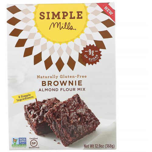 Simple Mills, Naturally Gluten-Free, Almond Flour Mix, Brownie, 12.9 oz (368 g) Review