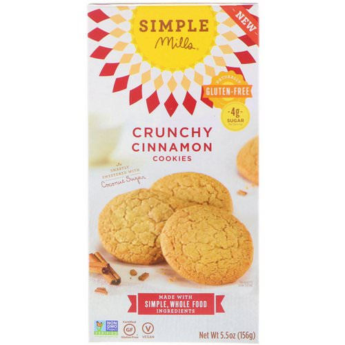 Simple Mills, Naturally Gluten-Free, Crunchy Cookies, Cinnamon, 5.5 oz (156 g) Review