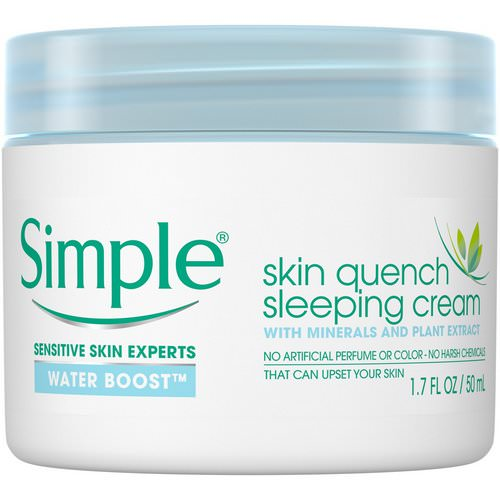 Simple Skincare, Skin Quench Sleeping Cream, 1.7 fl oz (50 ml) Review