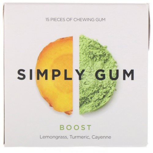Simply Gum, Simply Gum, Boost, 15 Pieces Review