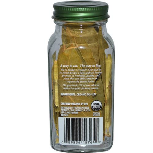 Simply Organic, Bay Leaf, 0.14 oz (4 g) Review