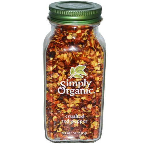 Simply Organic, Crushed Red Pepper, 1.59 oz (45 g) Review