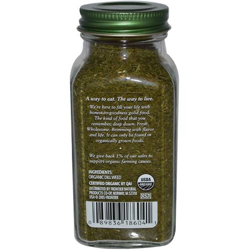 Simply Organic, Dill Weed, 0.81 oz (23 g) Review