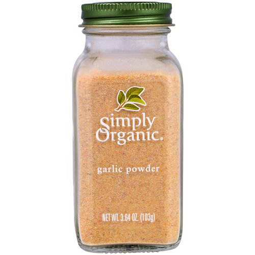 Simply Organic, Garlic Powder, 3.64 oz (103 g) Review