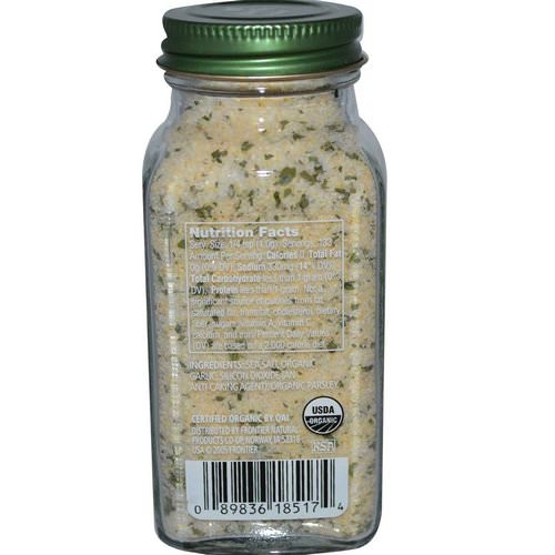 Simply Organic, Garlic Salt, 4.70 oz (133 g) Review